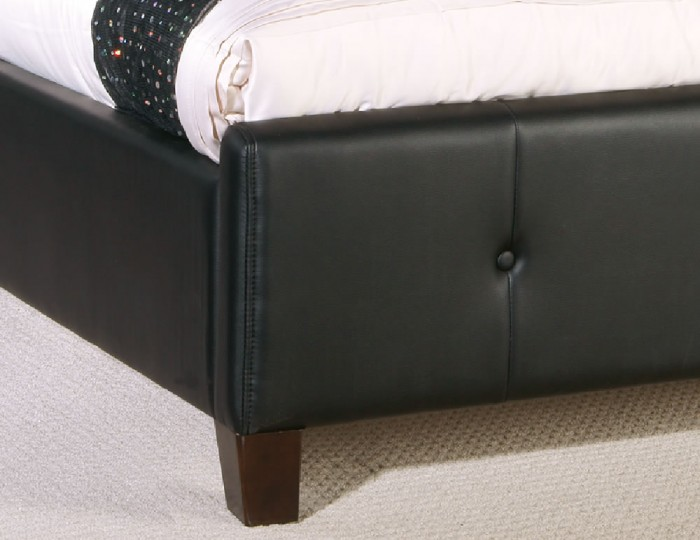 Nemiro Black Faux Leather Bed Frame