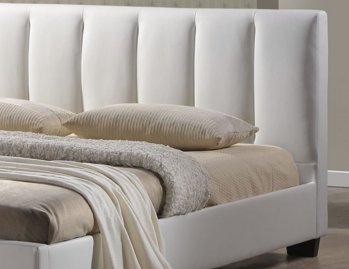 Tulipa White Faux Leather Bed Frame