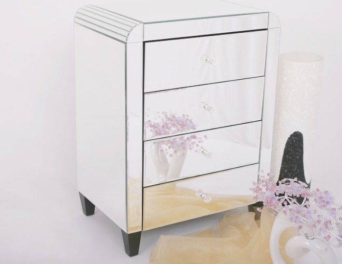 Berovo Mirrored Bedside Chest