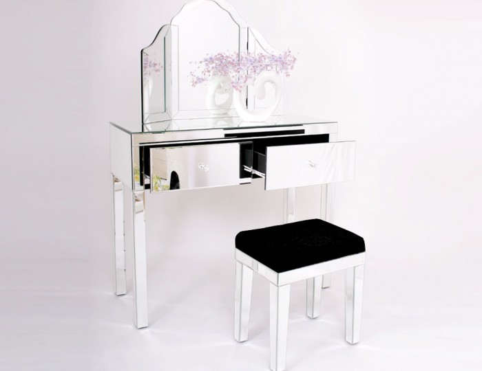 Portier Single Mirrored Dressing Table