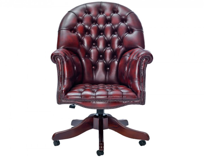 Furniture office chairs pizarro antique red leather office chair
