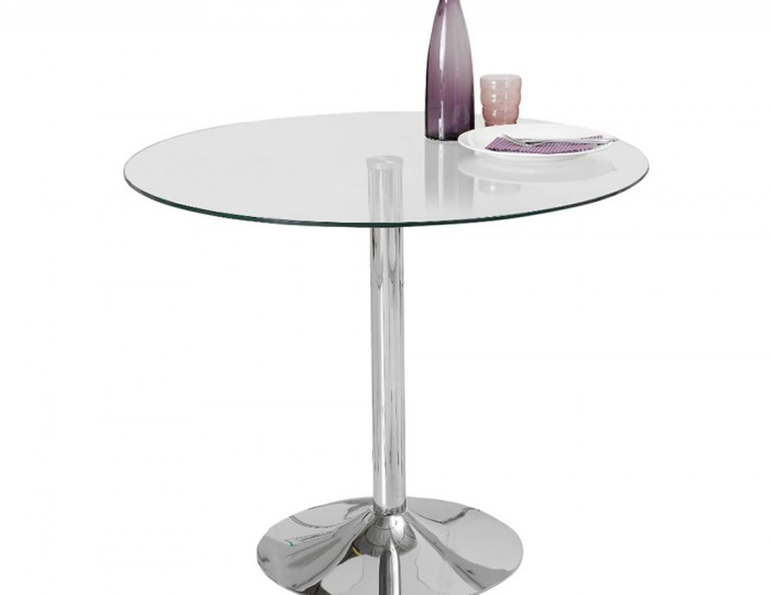 Jayden Clear Glass Kitchen Table