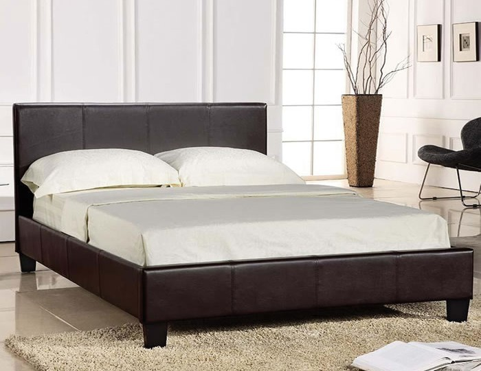 Ballard Brown Faux Leather Bed