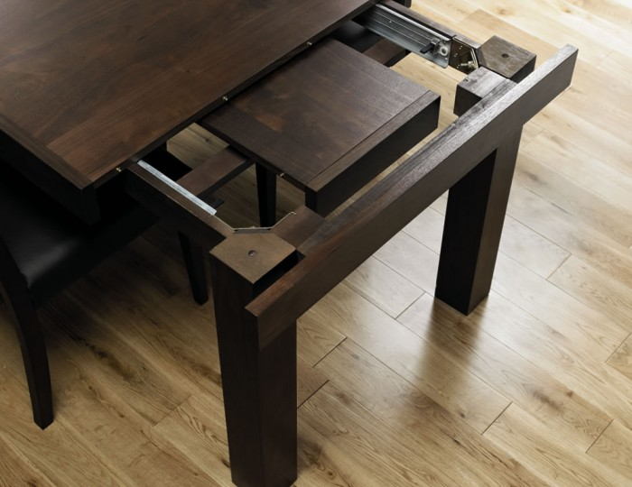 Akita Walnut Small Extending Dining Table
