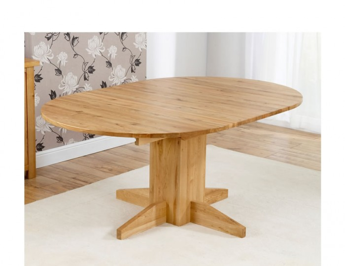 Mariana Oak Round Extending Dining Table