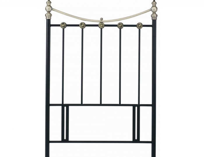 Ancona Black Metal Headboard