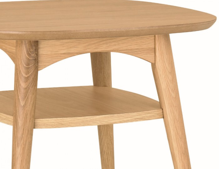 Orbit Oak Lamp Table