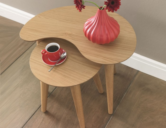 Orbit Oak Nest of Tables