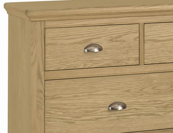 Hampstead Oak 3+4 Drawer Wide Chest