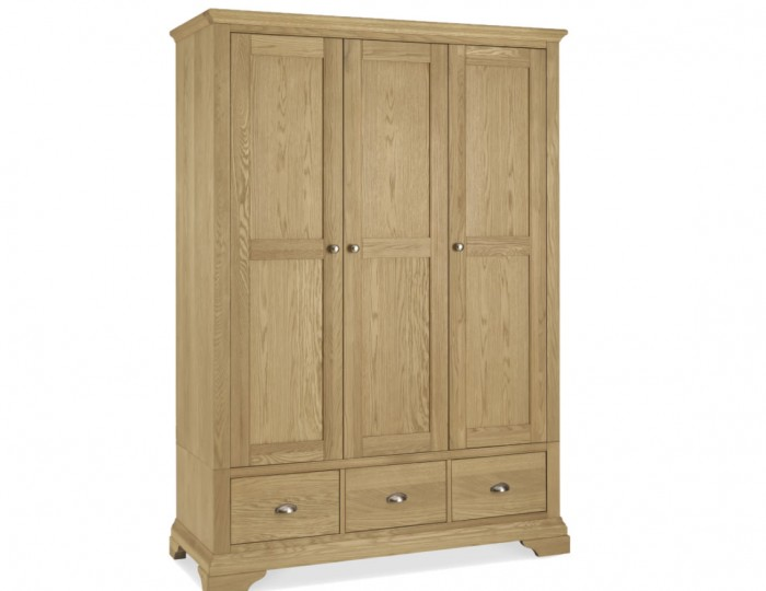 Hampstead Oak 3 Door Wardrobe