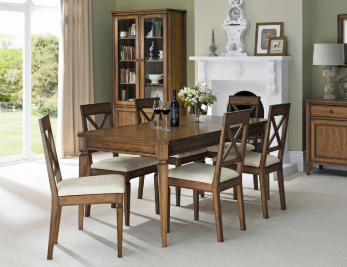 Sophia Oak Small Extending Dining Set