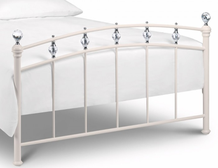Austen Off White Metal Bed