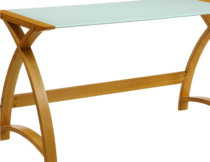 Penzance Small Oak and Glass Work Table