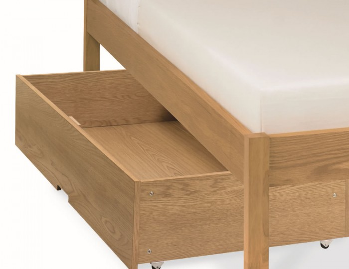 Atlanta Oak Low Footend Bed