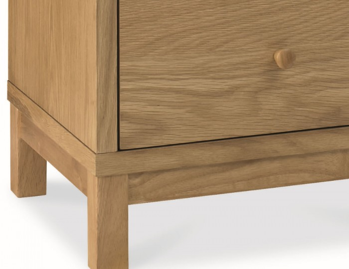 Atlanta Oak 3 Drawer Bedside Chest