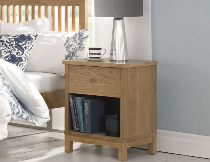 Atlanta Oak 1 Drawer Nightstand