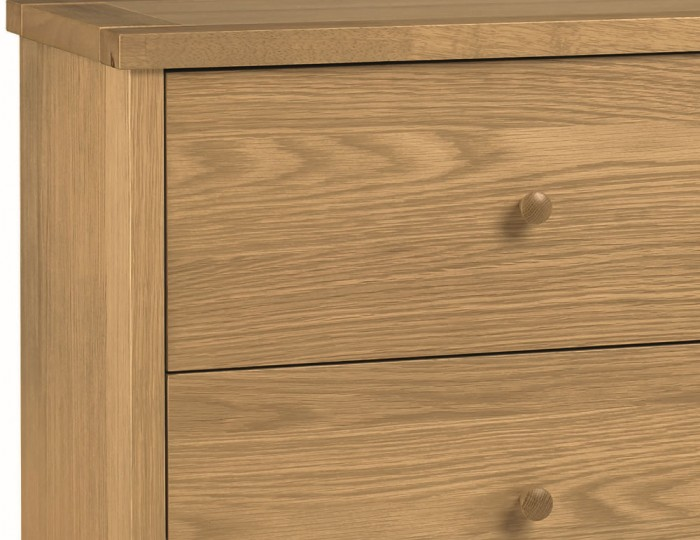 Atlanta Oak 6 Drawer Wide Chest