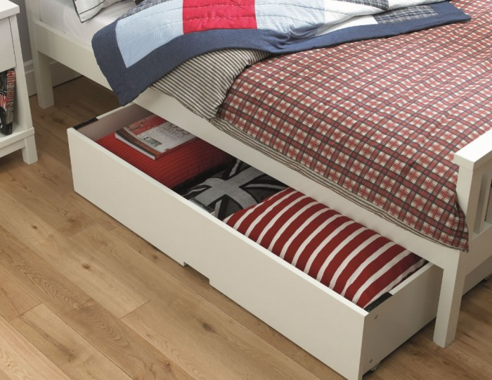 Atlanta White High Footend Bed