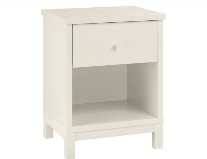 Atlanta White 1 Drawer Nightstand