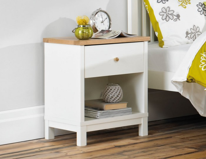 Atlanta Two Tone 1 Drawer Nightstand