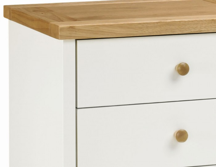 Atlanta Two Tone 3 Drawer Bedside