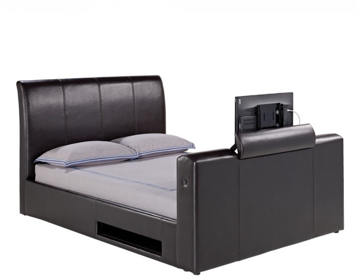 Empire Brown Faux Leather TV Bed