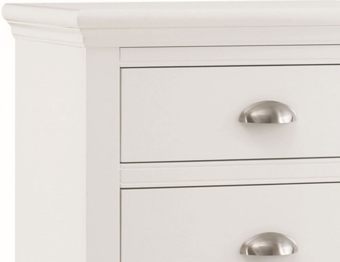 Hampstead White 5 Drawer Tall Chest
