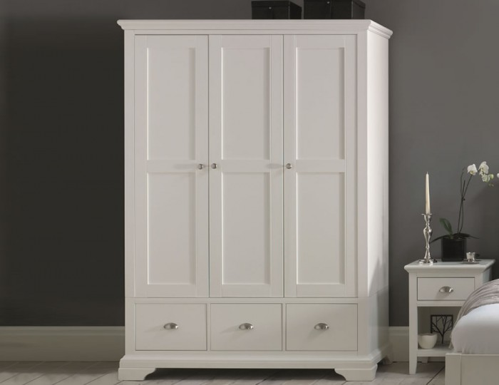 hampstead white triple wardrobe - White Wardrobe