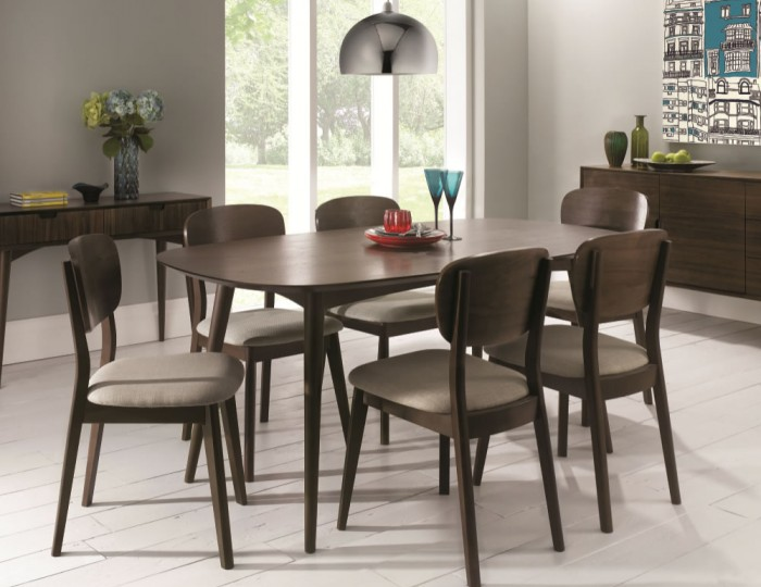 Oslo Walnut Dining Table and Chairs