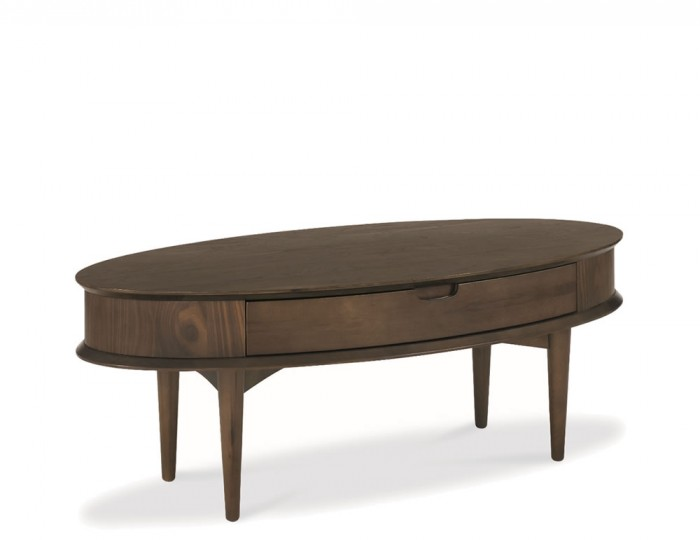 Oslo Walnut Coffee Table with Drawer