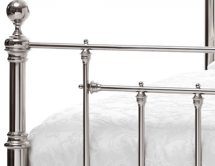 Benjamin Nickel Metal Bed Frame
