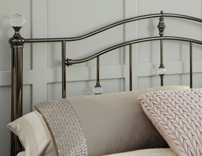 Ashley Black Nickel Metal Bed Frame