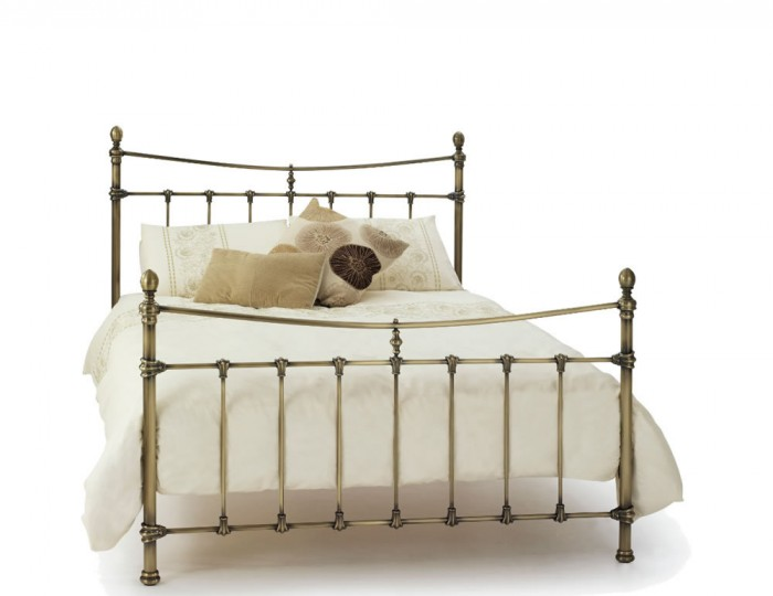 Olivia Antique Brass Metal Bed Frame