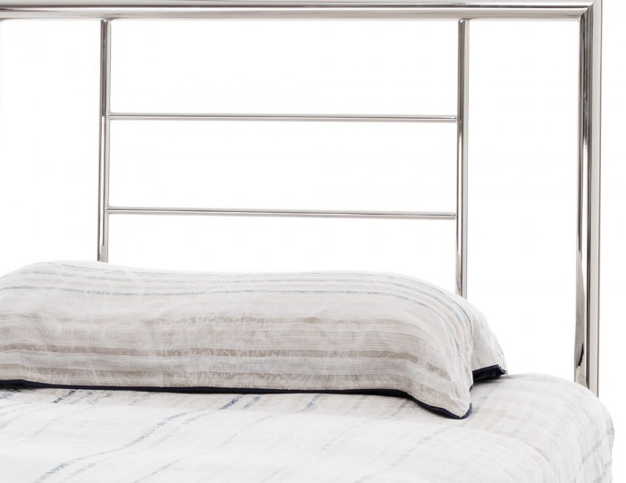 Zeus Nickel Metal Bed Frame