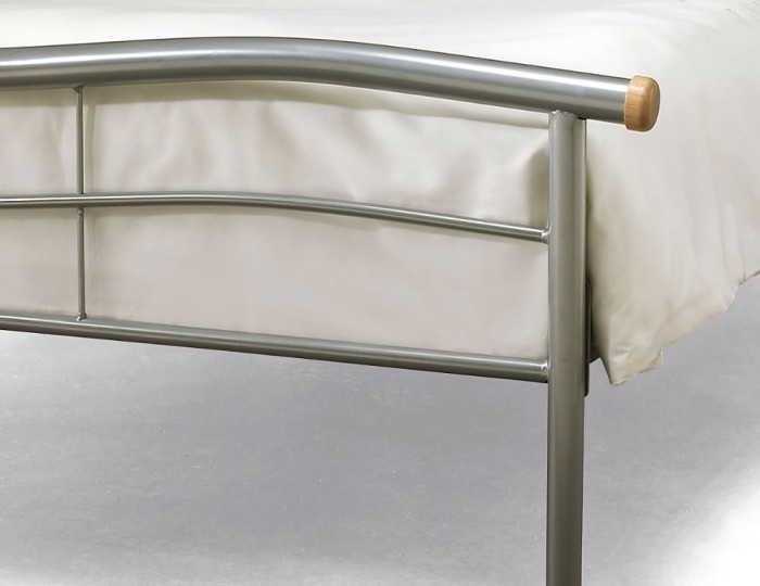Waverly Silver Metal Bed Frame
