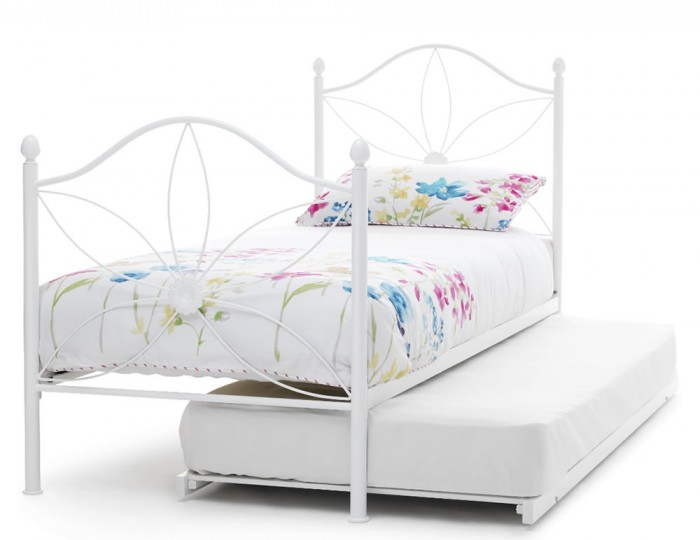Daisy White Metal Guest Bed