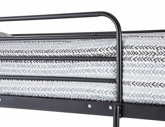 Oslo Three-Sleeper Black Metal Bunk Bed