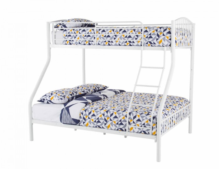 Oslo Three Sleeper White Bunk Bed Single Amp Double Sized Beds