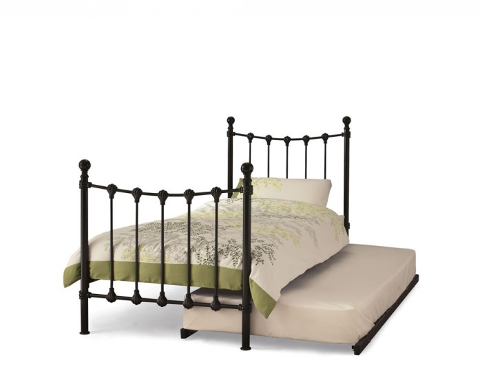 Marseille Black Metal Guest Bed