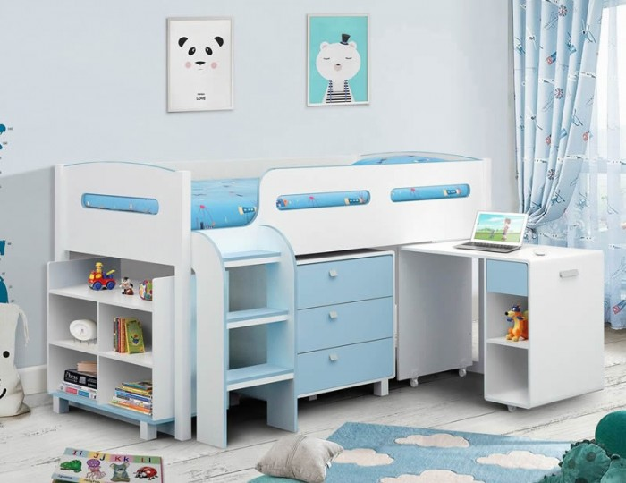 Kendo Blue and  White Sleep Station