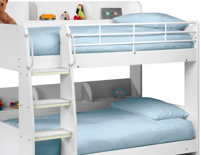 Darci Kids White Bunk Bed