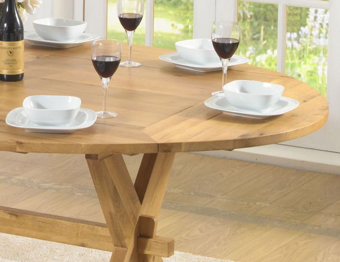 Rivoli Oak All Sides Extending Dining Table