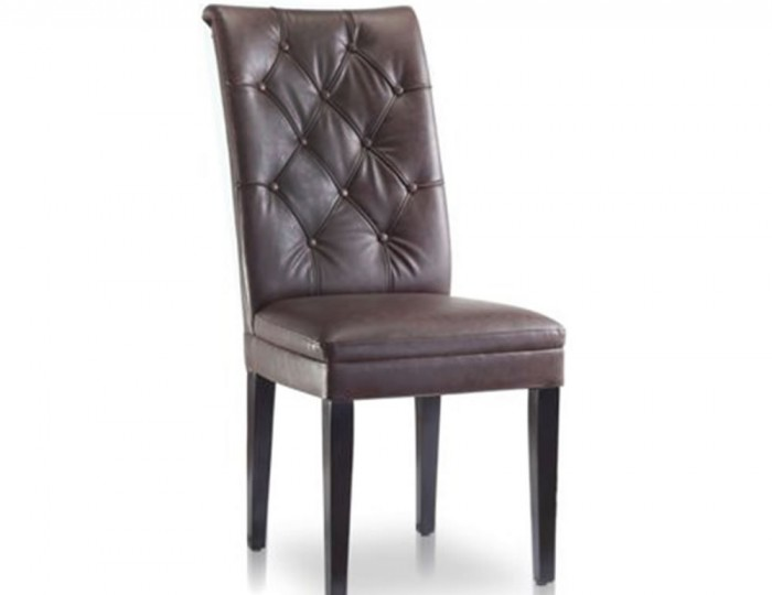 Ryarsh Brown Faux Leather Dining Chair