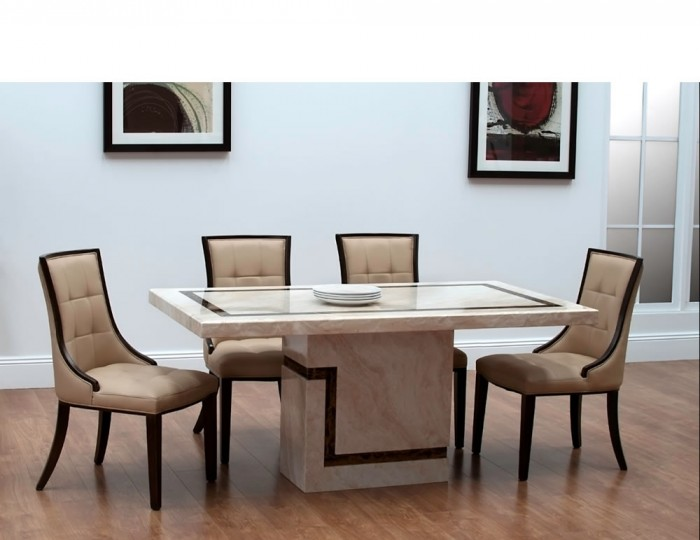 horsham marble dining table and chairs - Marble Dining Table
