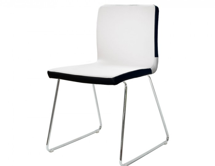 Blaze White Faux Leather Dining Chairs
