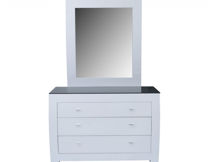 Cardiff White High Gloss 3 Drawer Chest