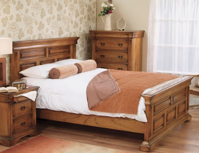 Hermione Antique Oak Bed Frame