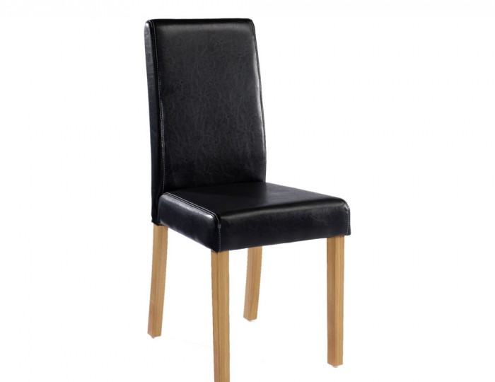 Foxton Black Faux Leather Dining Chairs
