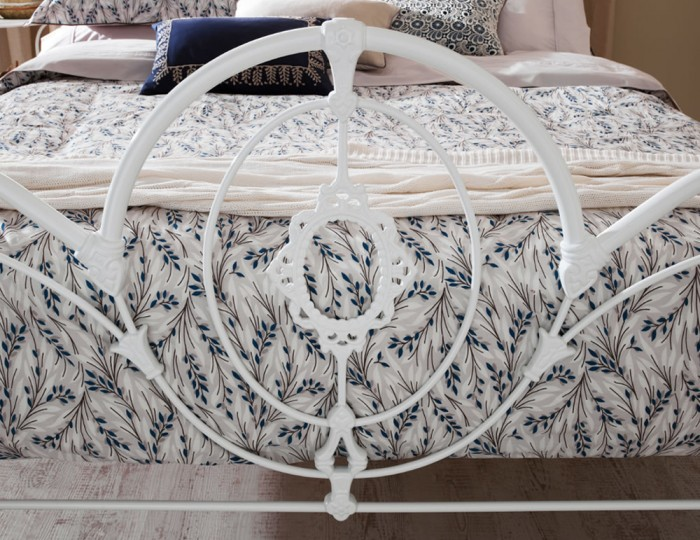 Harriet White Gloss Metal Bed Frame
