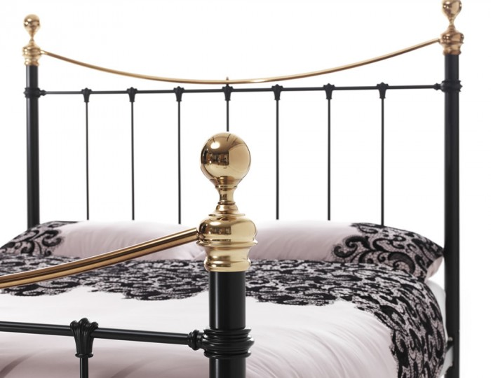 Ethan Black and Brass Metal Bed Frame